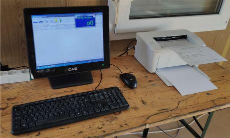 Mérlegházban lévő MST számítógépes kiépítés