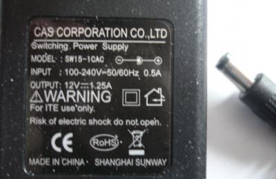 Tápegység 12V/1250mA/K+ (CAS: ER/ED/DB)