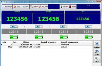 MST WIFI -s mérleg szoftver és mérleg