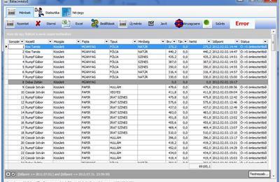 MST tömegellenőrző adatgyűjtő szoftver