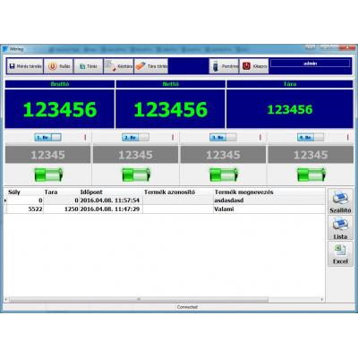MST WIFI -s mérleg szoftver #1