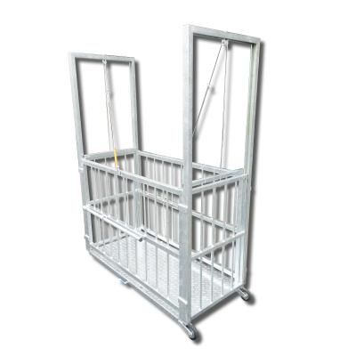 MST sertésmérleg egyedi kivitelezésű (felhúzható) ajtókkal