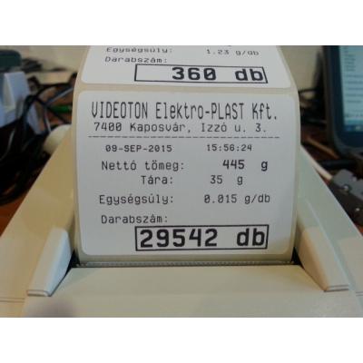 CAS EC CAS nyomtatóval összekapcsolva