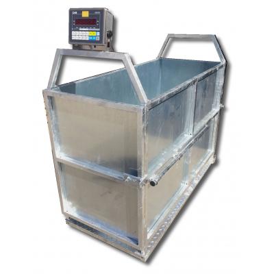 MST sertés, juh, lemezelt oldalfalú mérleg CI200S mérőfejjel, tolózárral.