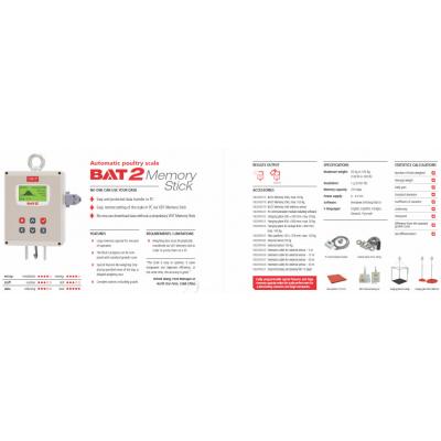 BAT2 baromfi mérleg Memory Stick leaflet