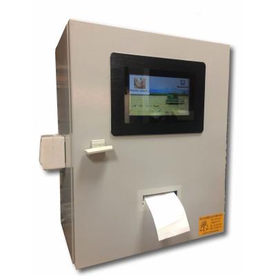 MST PM-PI terminál lemezszekrényben etikett nyomtatóval