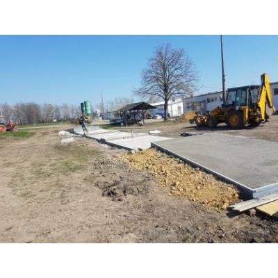 Rámpás betonalap