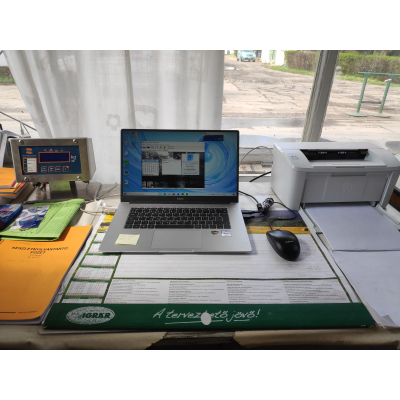 MST portaprogram komplett informatikával hídmérlegnél (laptoppal)