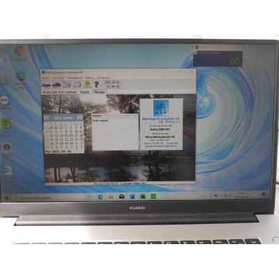 MST portaprogram laptopon (fotó a programról)